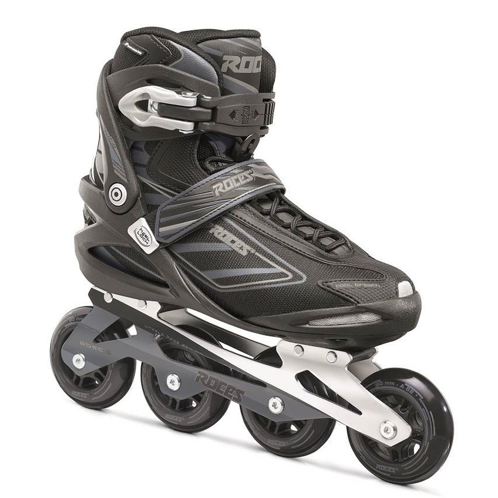 Roces Men s IZI Sporty Fitness Inline Skates Blades Black-Charcoal. 400799 00001