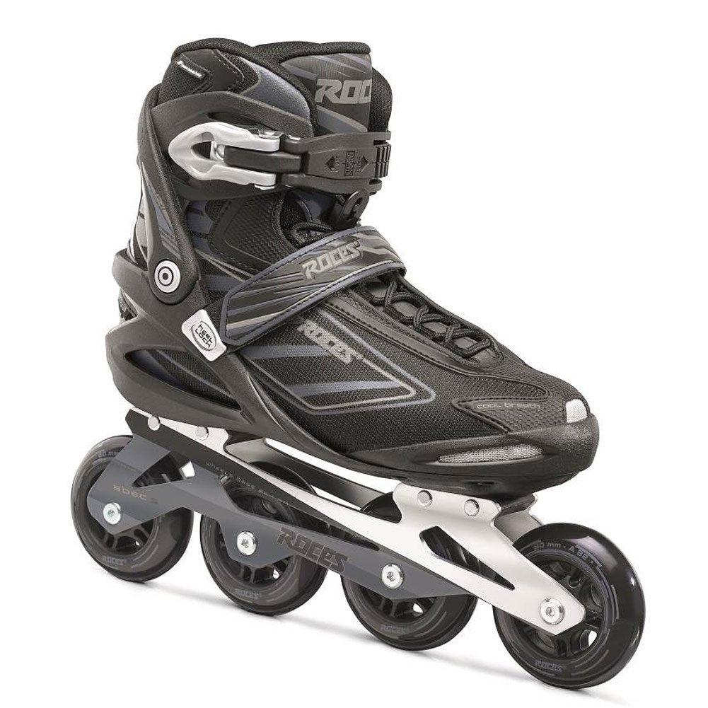 Roces Mens IZI Sporty Fitness Inline Skates Blades Black-Charcoal 400799 00001