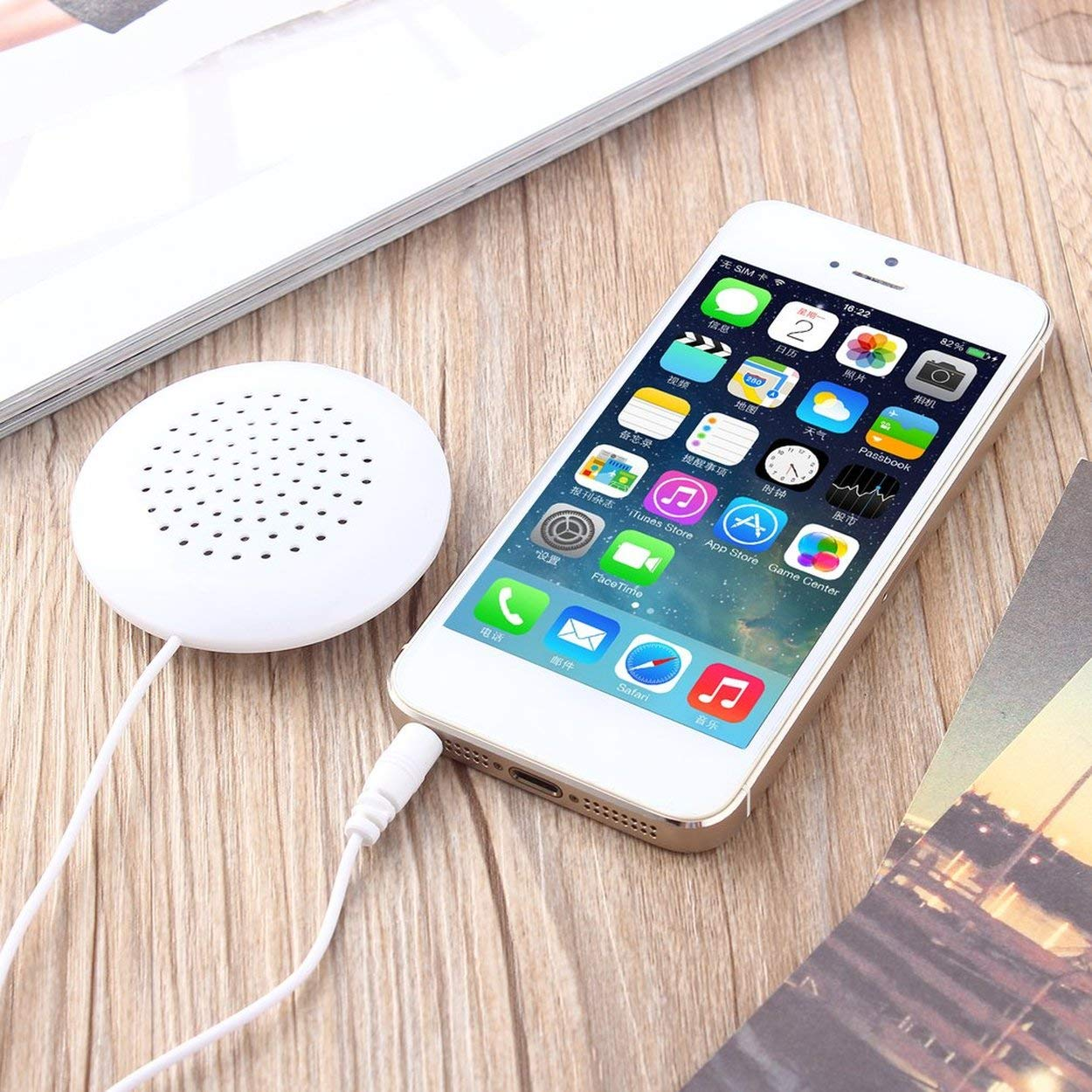 anyilon DIY 3.5mm Mini Louder Speakers Music Pillow Stereo Speaker for MP3 Phone for iOS for iPod Touch CD Sleeping Use