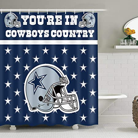 Earvo Colourful Dallas Cowboys Shower Curtain American Football Team Stars Cool Helmet Polyester Cloth With 12 Hooks 72x72 Inches For Fans Sport Lovers Bathroom Decor Eads1249 72 Amazon Co Uk Kitchen Home,3d Logo Design For Construction Company