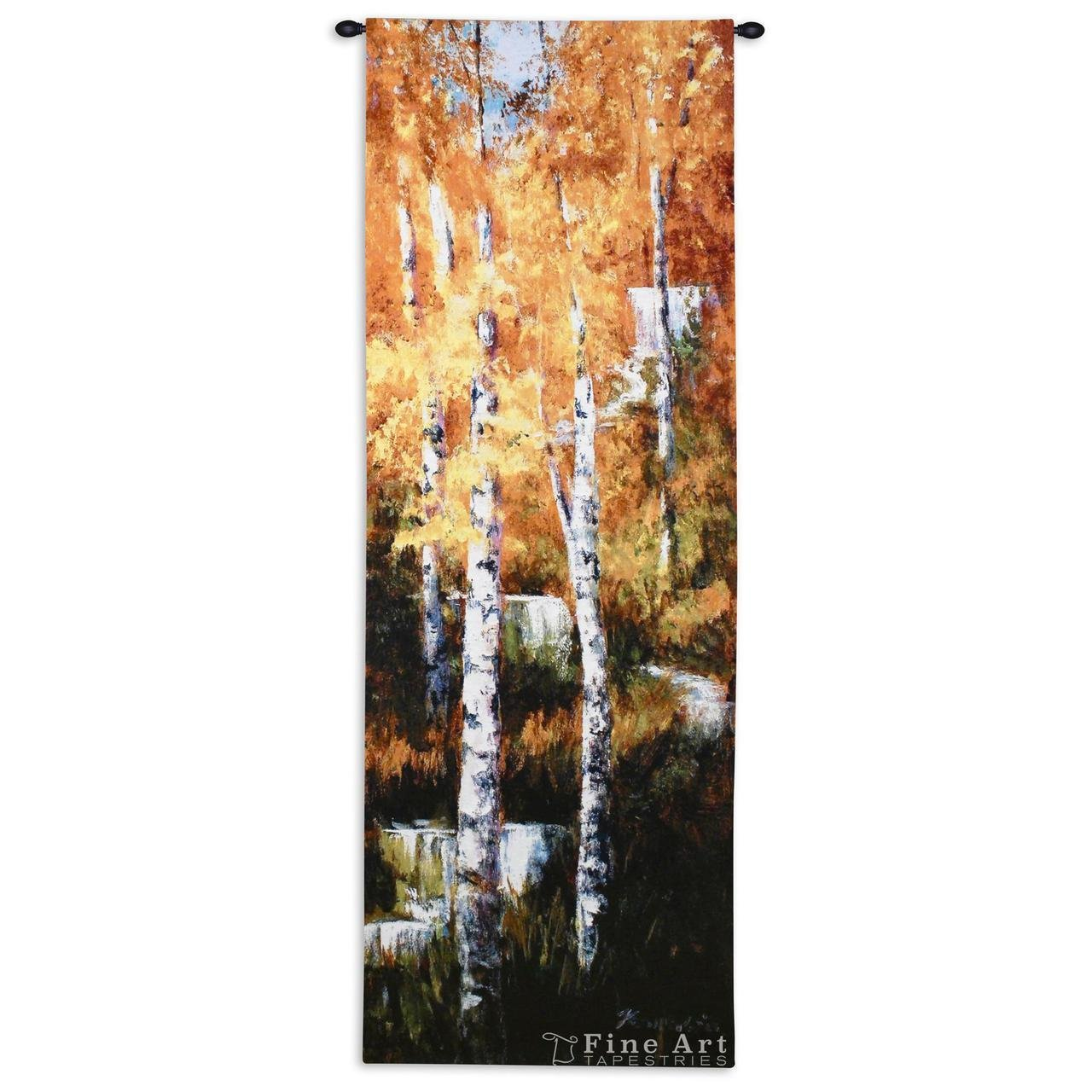 Fine Art Tapestries ''Autumn Birch Falls'' Wall Tapestry by Fine Art Tapestries