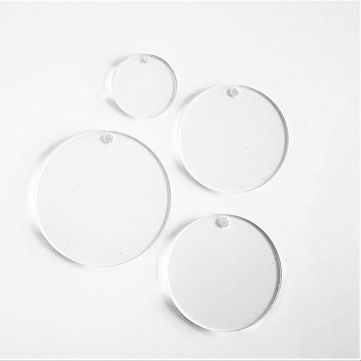 "CLEAR ACRYLIC CIRCLE BLANK 1//8/"" THICK- PACK 25-50-100 SELECT SIZE"
