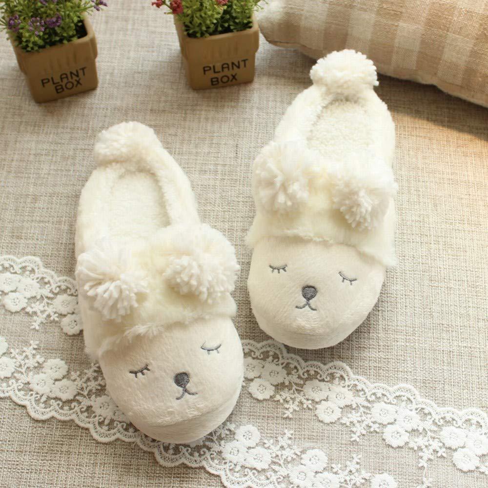 HYW Pantofole Pantofole Pantofole - Sacchetto interno di pecora invernale di cartone animato giapponese con pantofole in cotone che lampeggiano gli amanti delle palle da ballo al coperto,bianca,M38 / 39 bianca 0a5df5