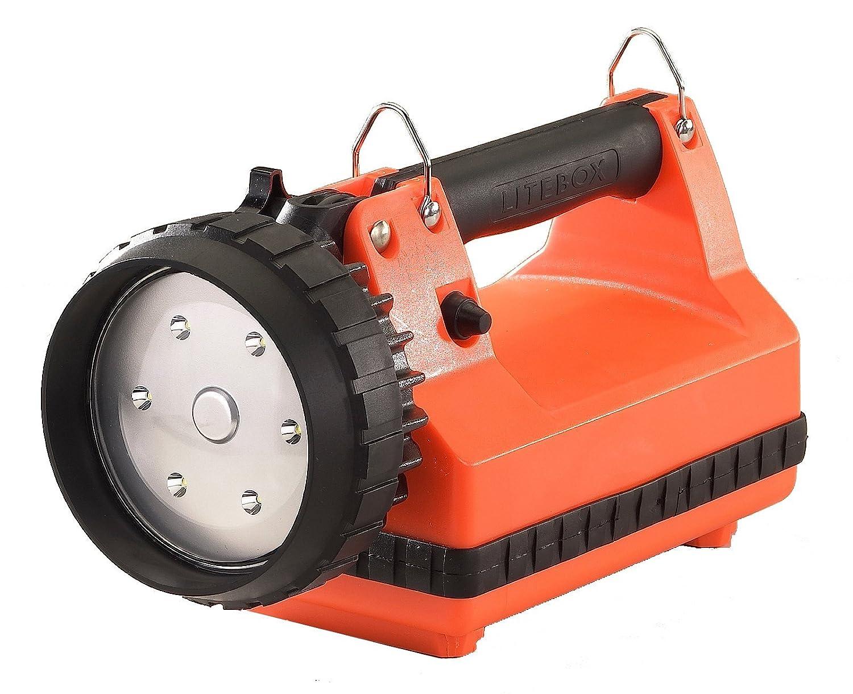 人気ショップ Streamlight 45805 E-Flood Litebox System Rechargeable Lantern System with with Rechargeable DC Charger and Shoulder Strap, Orange [並行輸入品] B06XFHT7NG, スクレドゥフィーユ:97241263 --- a0267596.xsph.ru