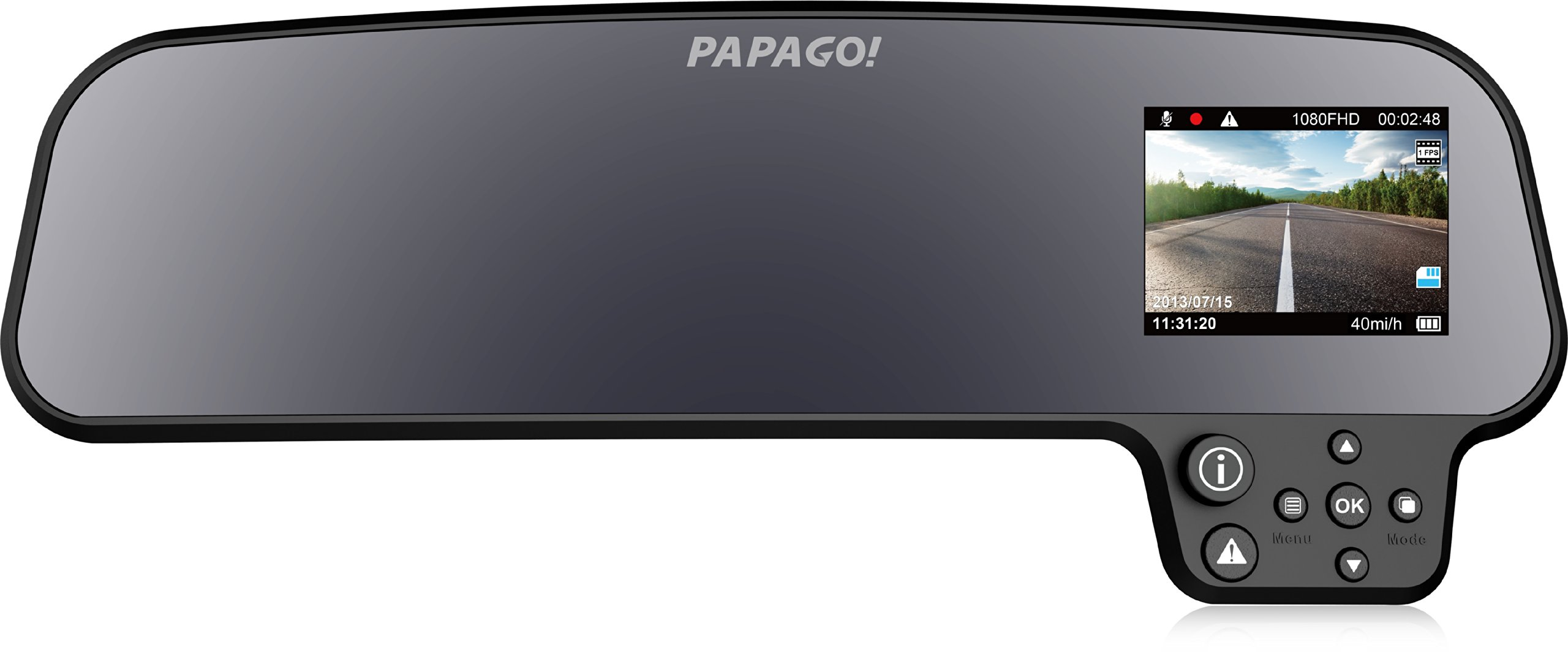GoSafe260 GS260-US GoSafe 260 Full HD 1080P Rear-view Mirror Mount Dashcam with 2.7'' Display (Black)