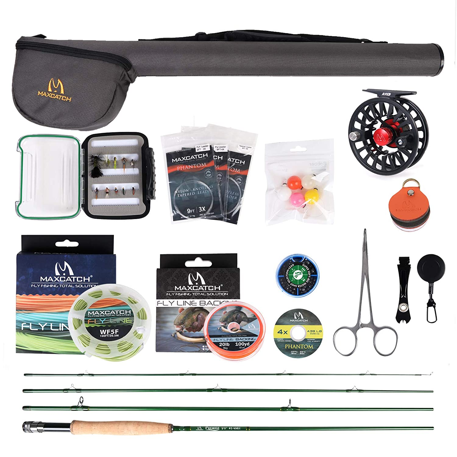 Maxcatch Premier Fly Fishing Rod and Reel Combo Complete 9 Fishing Outfit