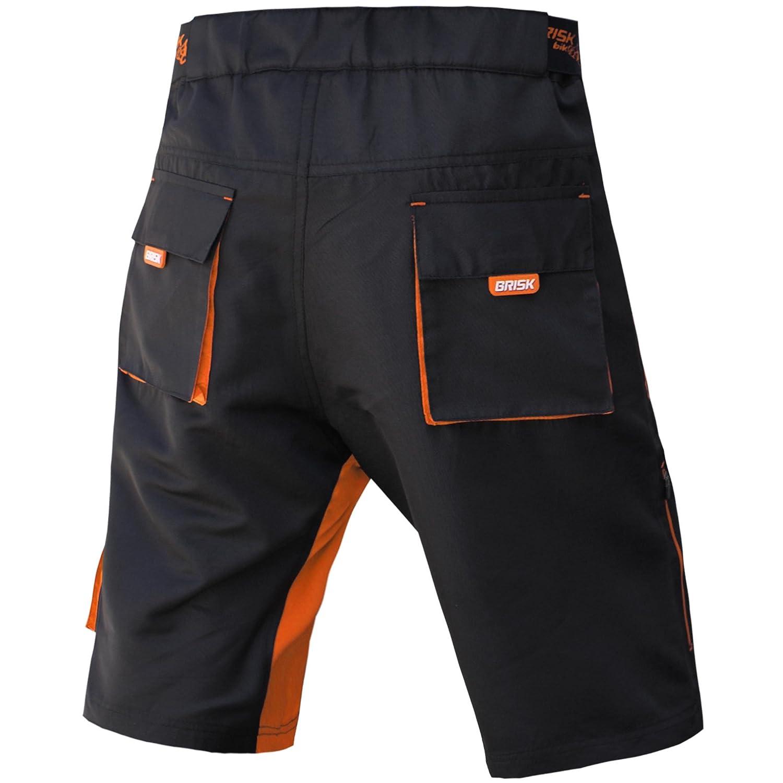 Coolamax imbottito Pantaloncini MTB Brisk Free Style Formato adulto staccabile rivestimento interno