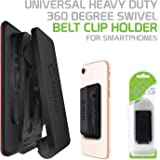 Cellet CLIPHDBK Universal Heavy Duty 360 Degree Swivel Belt Clip Holder for Smartphones - Black
