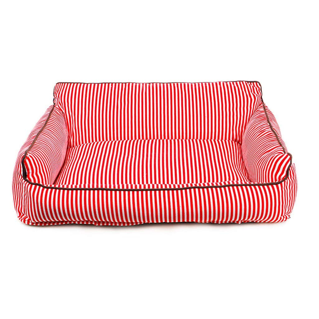 Red Large Red Large Dog Bed Cat Bed Large Dog, Medium Dog, Washable Kennel Four Seasons General Teddy golden Hair Large Dog Mat Comfortable Warm Kennel Pet Bed (color   Red, Size   L)