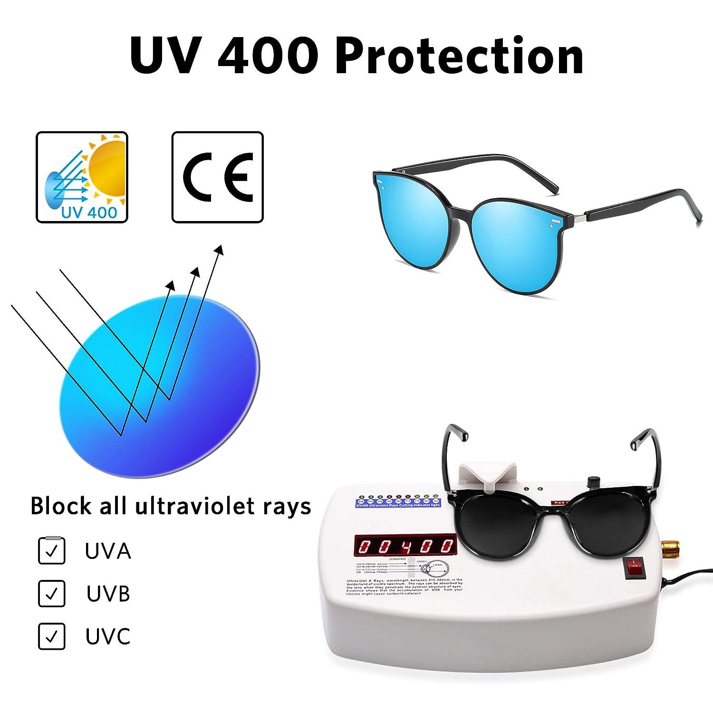 ipow Lunette de Soleil Homme Polaris/ée /à Verre R/él/échissant-Effet Miroir Lunettes de Soleil Femme /à 100/% Anti-UV 400