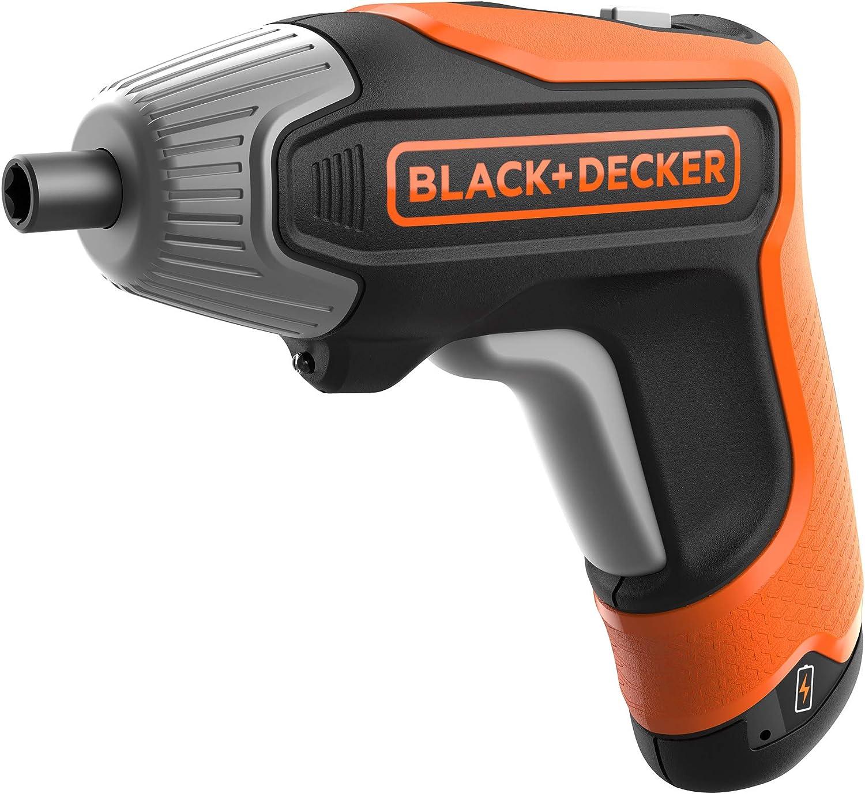 BLACK+DECKER BCF611CK-QW - Atornillador a batería 3.6V(1.5Ah) litio, 5.5Nm, de carga rápida