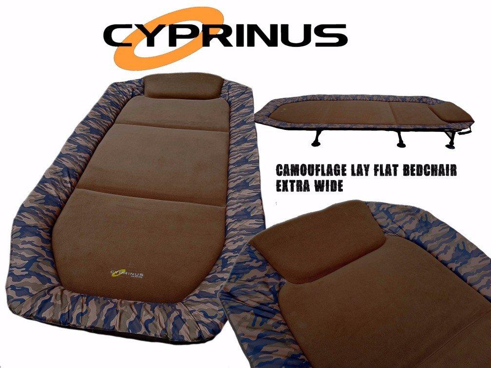 Camuflaje Extra Grande Cyprinus Camouflage Cama de Pesca de Carpa de Gran Ancho