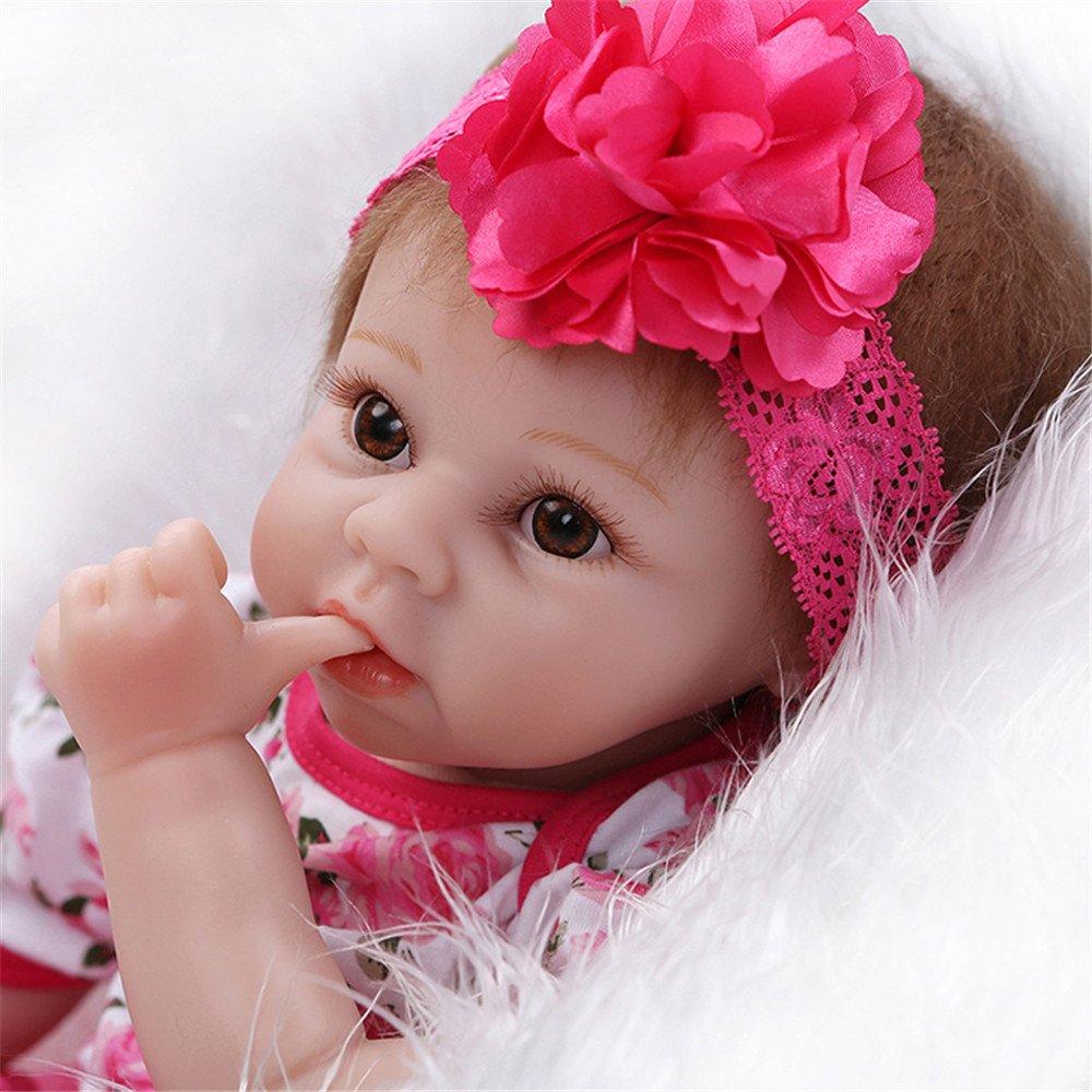 Amazon.es: 22 pulgadas 55 cm silicona bebé Reborn muñecas realista ...