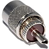 UHF PL259 Mâle Fiche Soudure adaptateur Pour RG58 coaxial câble
