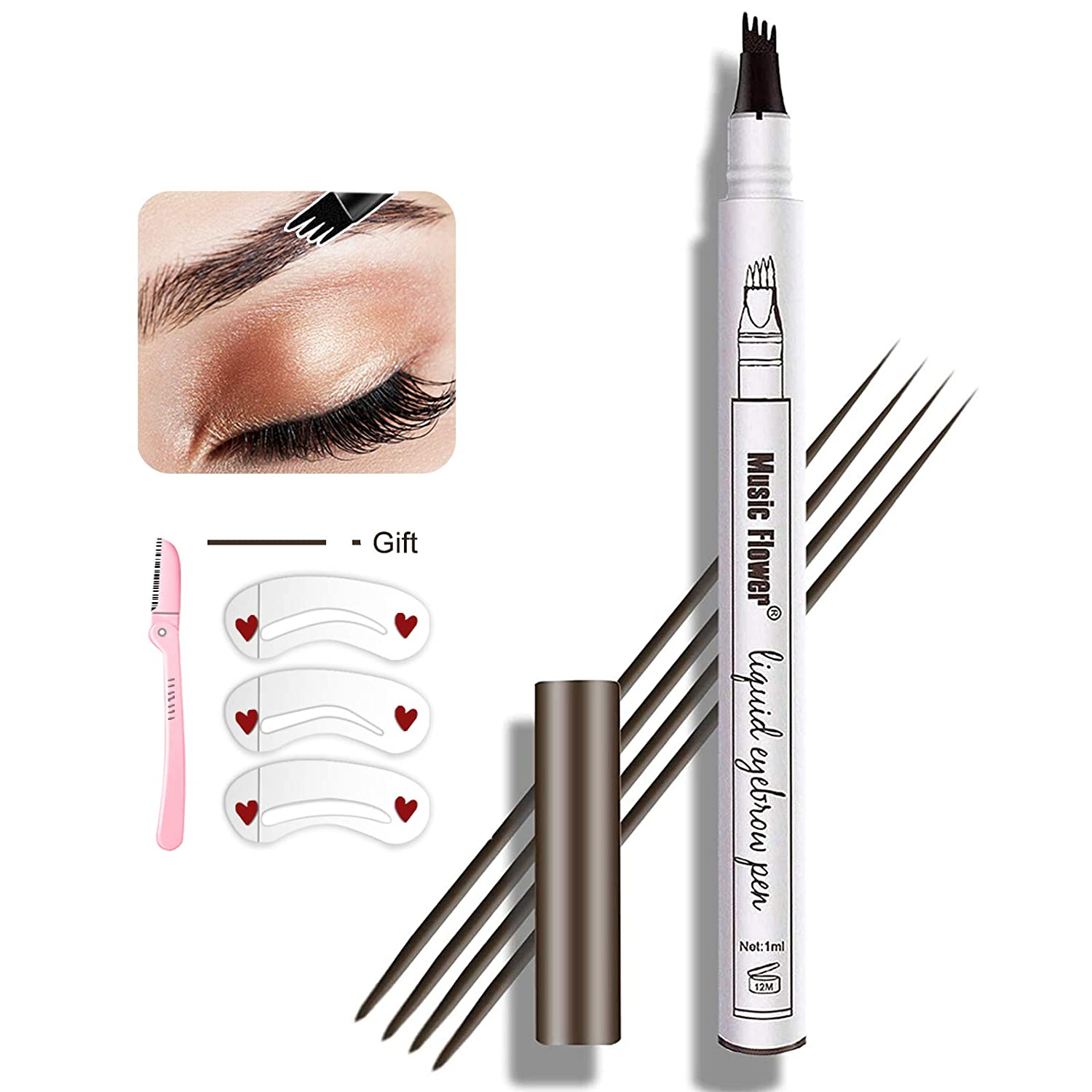 MoonKong 4 Point Waterproof Eye Brown Makeup Eyebrow Pen $9. Coupon
