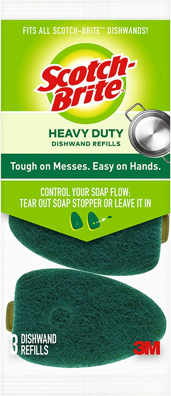 Scotch-Brite Heavy Duty Dishwand Refills, Keep Your Hands Out of Dirty Water, 36 Refills