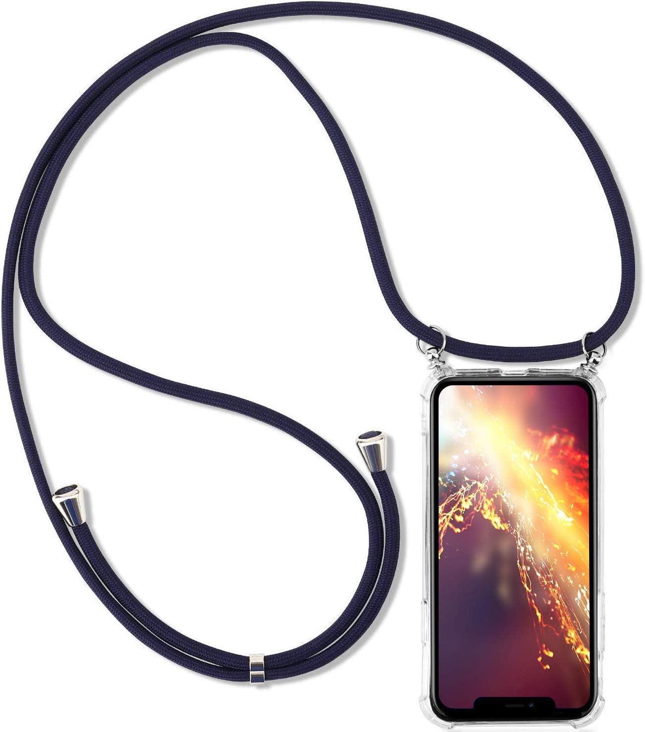 Jinghuash Kompatibel mit iPhone 6 H/ülle mit Band,Kompatibel mit iPhone 6S Transparente Handyh/ülle mit Kordel zum Umh/ängen,D/ünn Durchsichtig TPU Silikon Lanyard H/ülle,Gr/ün beige