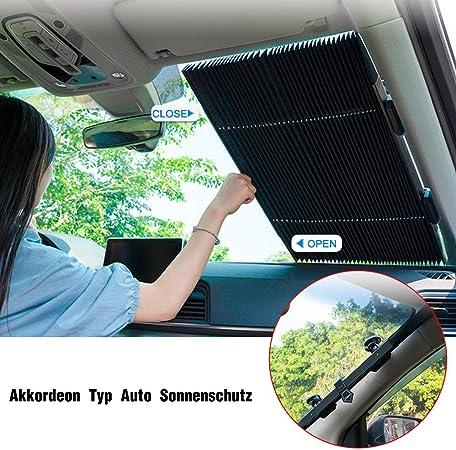 60x130 cm Azorex Pare-soleil pour voiture avant pliable Protection solaire de la lune avant Taille S//M//L avec sangles /élastiques facile /à installer S
