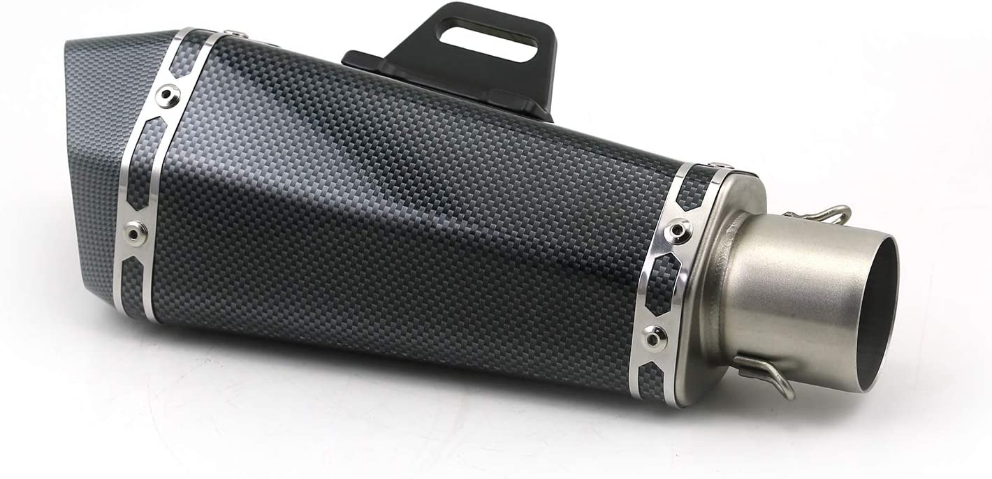 51mm inlet Universal motorcycle for ak yoshimura exhaust muffler for FZ1 R6 R15 R3 ZX6R ZX10 Z900 1000 K7 K8 NINJA 650