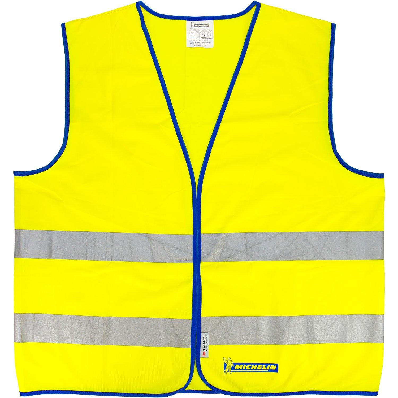 Michelin 92401 Gilet di allarme in conformità alla norma EN 471, taglia universale, colore: giallo