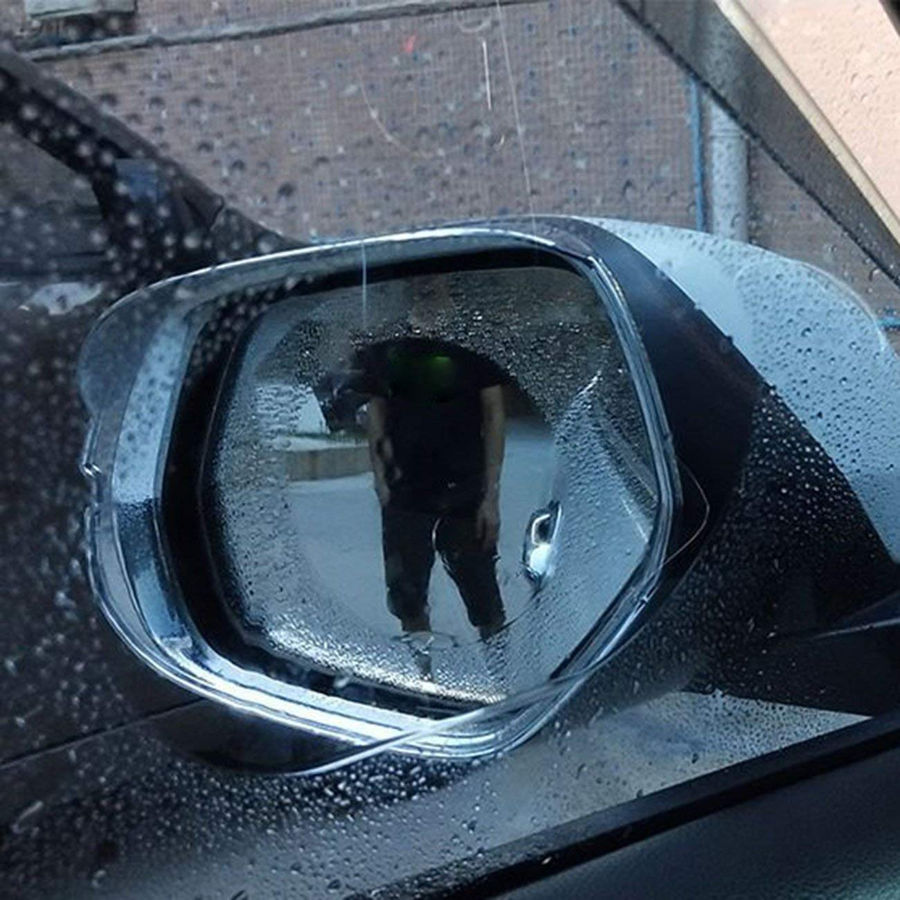 Transparent/&100x145mm Car Rearview Mirror Film Anti-Water Anti-Fog Mirror Film for Car Rainproof Waterproof Rearview Mirror Window Clear Film