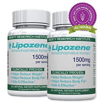 Lipozene Green Diet Pills All Natural Weight Loss Supplement Appetite Suppressant And