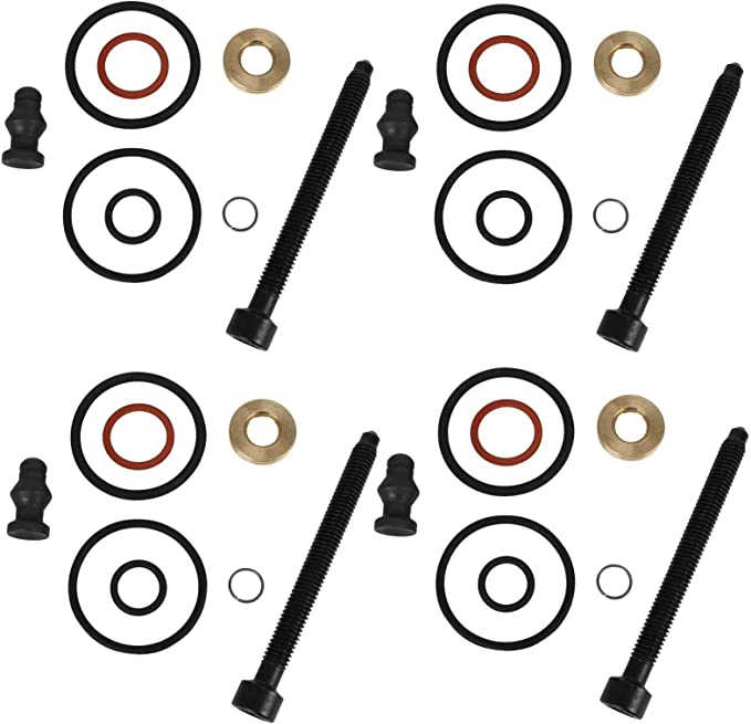 4 X Bosch Dichtungssatz Einspritzdüse Incl Schrauben Pumpe Düse Dichtsatz Repsatz Reparatursatz 1 9 2 0 Tdi Motorcode Bkc Bmm Bls Bpw Atd Axr Asz Blt Auto