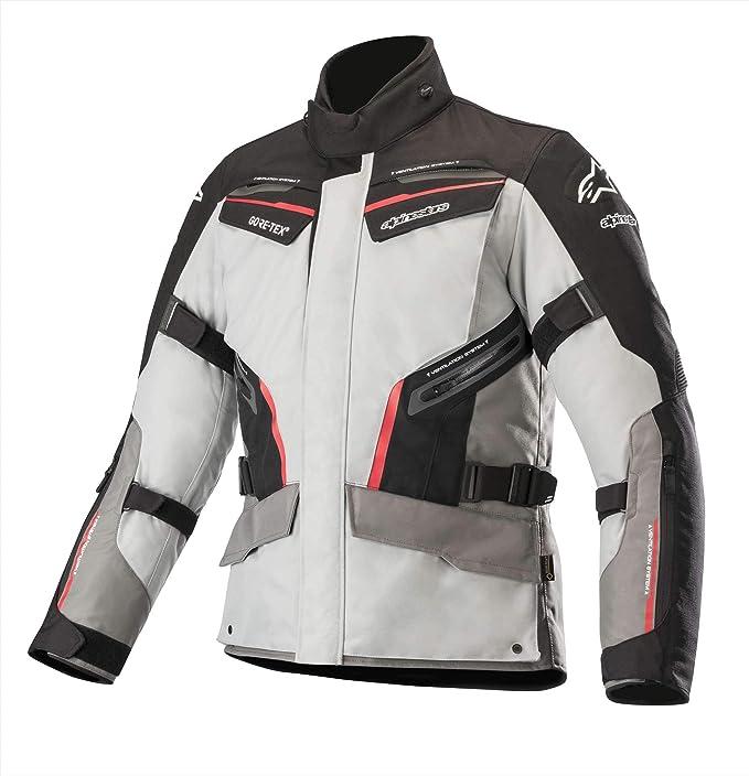 Alpinestars Patron Gore Tex Motorcycle Jacket Mid Gray Dark Grey Red Auto