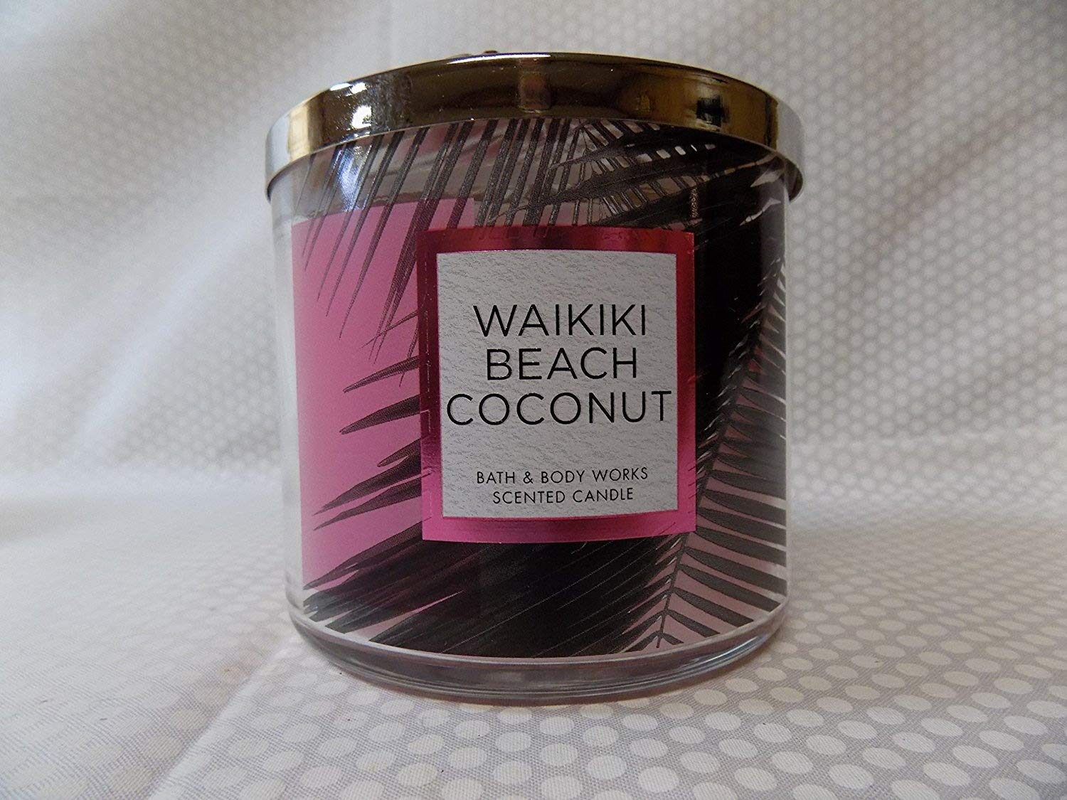 Bath and Body Works 3 Wick Scented Waikiki Beach Coconut 14.5 Ounce with Essential Oils BBW