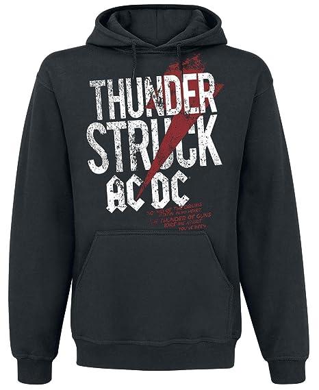 AC/DC Thunderstruck Sudadera con capucha Negro M: Amazon.es: Ropa y accesorios