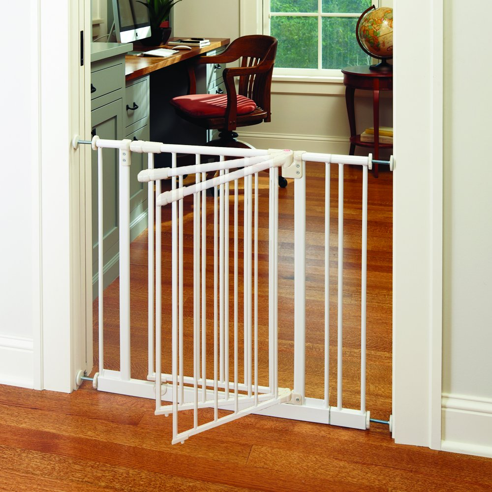 ''Easy-Close Gate'' by North States: The multidirectional swing gate with triple locking system - Ideal for doorways/between rooms. Pressure mount, fits openings 28'' to 38.5'' wide (29'' tall, Soft white) by North States (Image #8)