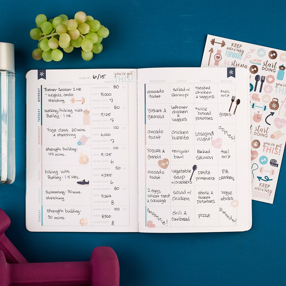 Erin Condren Wellness Log Bundle with Stickers (Includes Petite Planner w/Illustrative and Functional Stickers by Erin Condren (Image #3)