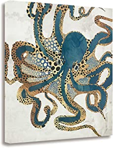 GEVES Octopus Decor Wall Art Paintings Canvas Prints Modern Cool Animal Pictures for Bedroom Living Room Framed Ready to Hang Home Decor