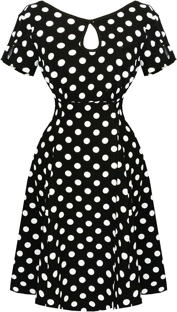 Hearts & Roses Mujer Retro Vintage 1940 1950s Lunares de ...