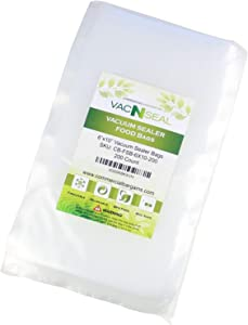 "Commercial Bargains 200 CT 6"" x 10"" Vacuum Seal Freezer Storage for FoodSaver Bags Pint Sous Vide"