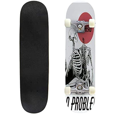 Classic Concave Skateboard No Head no Problem Vector Hand Drawn Illustration of Two Human Longboard Maple Deck Extreme Sports and Outdoors Double Kick Trick for Beginners and Professionals : Sports & Outdoors