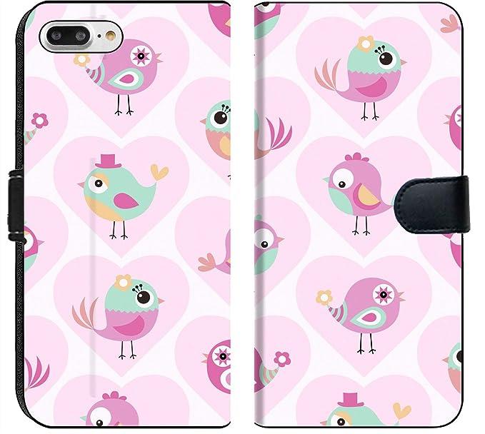 Amazon Com Luxlady Iphone 7 Plus Flip Fabric Wallet Case Id