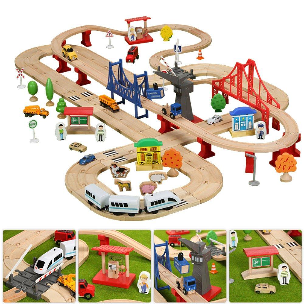 ... la playa Carritos de madera para juguetes de madera Trenes de tren eléctricos Bloques de construcción para autos de deslizamiento Regalos de cumpleaños ...