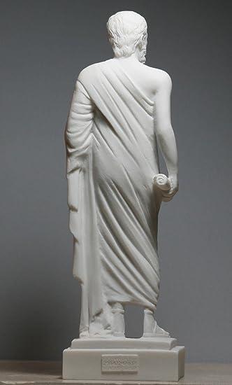 Statue de philosophe grec Socrates en marbre coul/é 24 cm