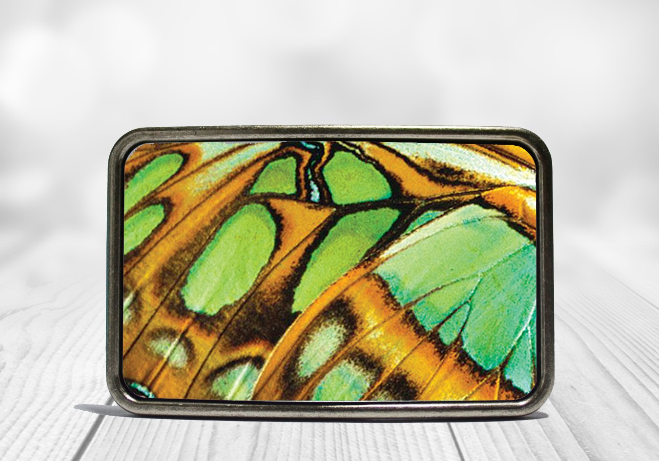 Green Butterfly Wing Belt Buckle