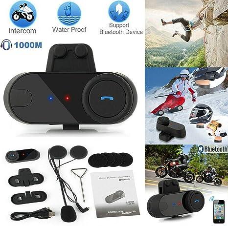 3 Riders Motorcycle Bluetooth Intercom BT Motorbike Helmet Interphone Headset FM