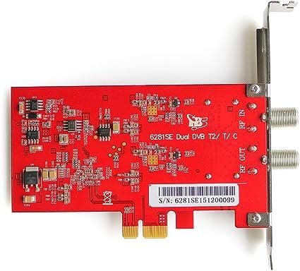 TBS DVB-T2/T/C tarjeta TV Dual Sintonizador TDT tarjeta de recepción de TV TDT (Televisión Digital Terrestre HD en Francia: Amazon.es: Electrónica