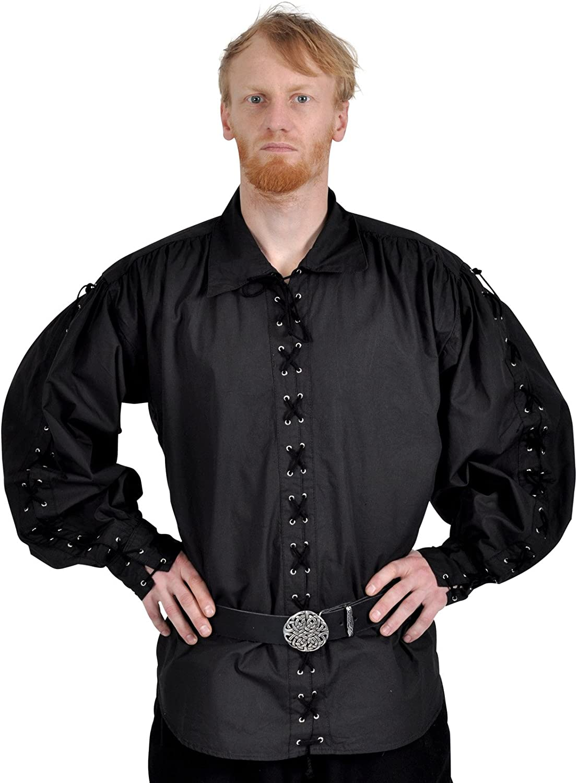 Algodón Camisa pirata Camisa Camisa pirata 16oz (Tallas S – XXXL, Blanco, Negro negro XXXL: Amazon.es: Ropa y accesorios
