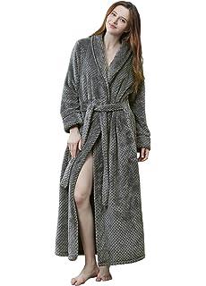 Womens Soft Plush Bathrobe Winter Fleece Dressing Gown Fluffy Bath Robe  Housecoat Full Long 713111f13