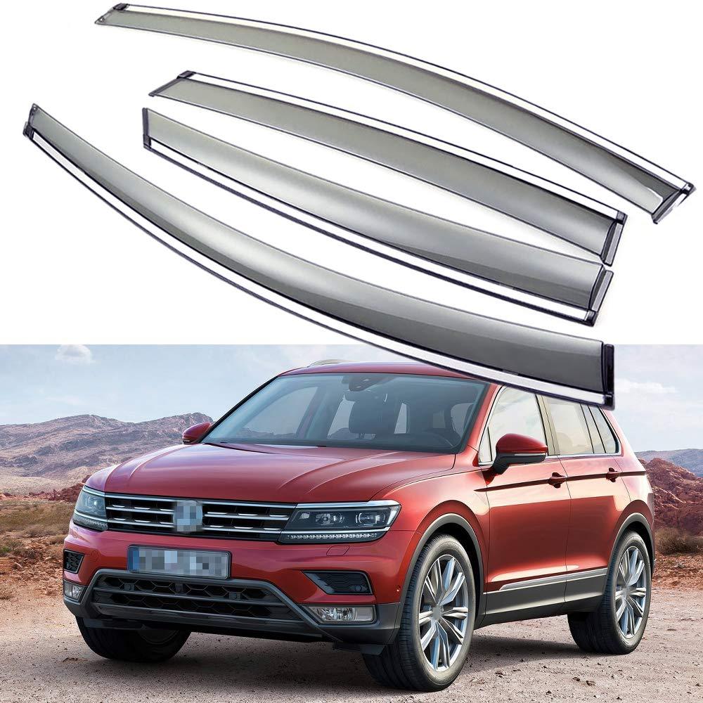 SPEEDLONG 4Pcs Car Window Visor Vent Shade Deflector Sun/Rain Guard for 2018 2019 VW Tiguan/VW Tiguan Allspace