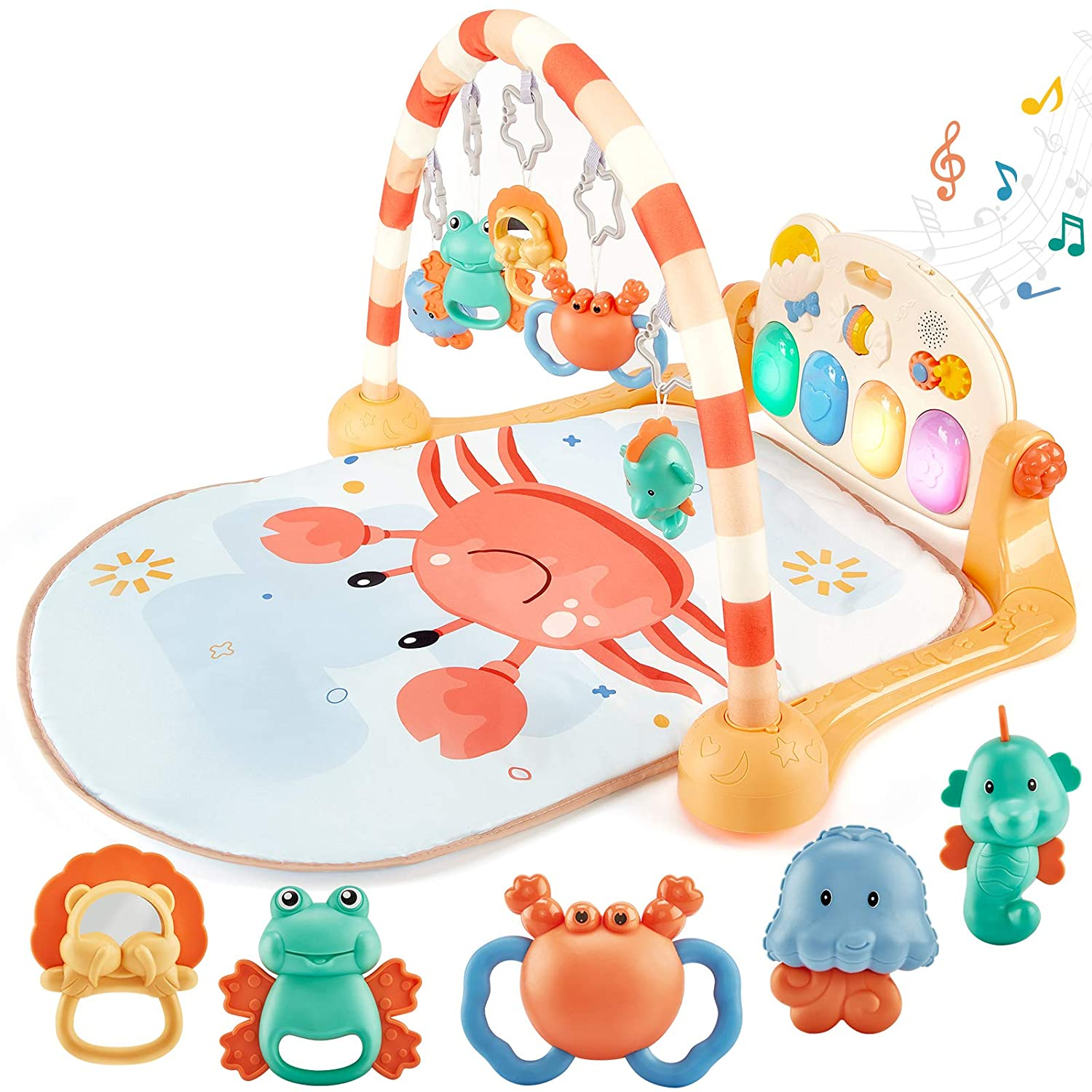 Baby Gym 2 Arch /& Toy Gift Activity Tummy Playmat Time Development Play Set