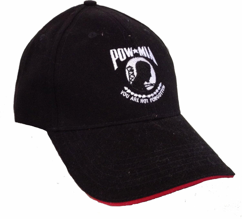 Amazon com: Made In America Store Men's POW/MIA Hat OS Black