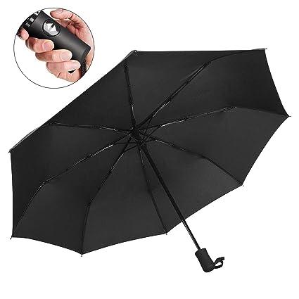 Automatic Travel Umbrella Windproof Auto Open Close 3 Folding Sun Rain Umbrella