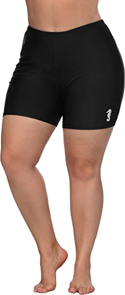 high waisted shorts swim bottoms