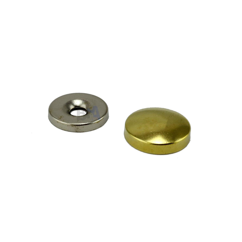 IROX Lot de 10 cache-vis en laiton Dor/é /Épaisseur 5 mm 18 mm